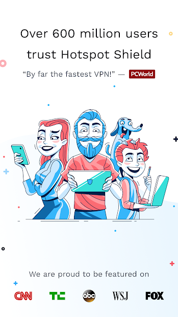 Hotspot Shield Free VPN Proxy & Wi-Fi Security Android App Screenshot
