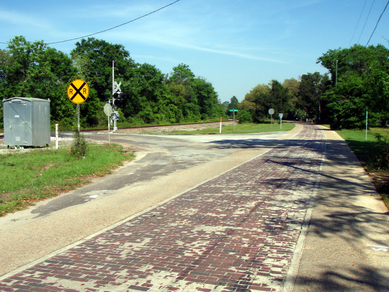 Photo: This brick section of Old Florida State Riad one is still open to daily traffic. REd Brick Road at Cathy St.