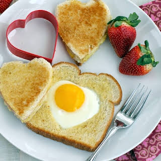 Ham and Cheese Toad in a Hole/Heart.