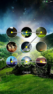 Fireflies lockscreen Screenshot