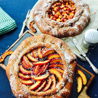 Spelt Flour, Coconut, Quince Jam and Peach Homemade Galette Recipe