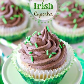 Triple Irish Cupcakes.