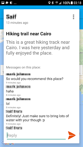 PlaceShare - Mark and share places on the map screenshot 4