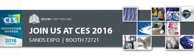 3D Systems примет участие в работе международной выставки CES 2016