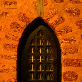 Monuments: St. Marks Church - window: Podanur. by Vinod Rajan - Buildings & Architecture Other Interior ( monuments, church, window, lights, night photography,  )