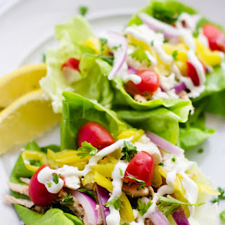 Greek Chicken Tacos with Tzatziki Sauce