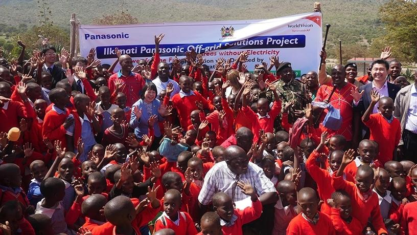 At the ceremony of Off-grid Solutions Project, in Ilkimati community. (Photo: Business Wire).
