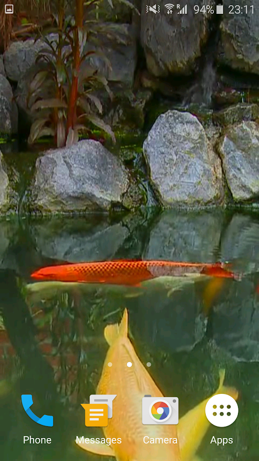 Koi fish video wallpaper 3d android apps on google play for Koi fish games