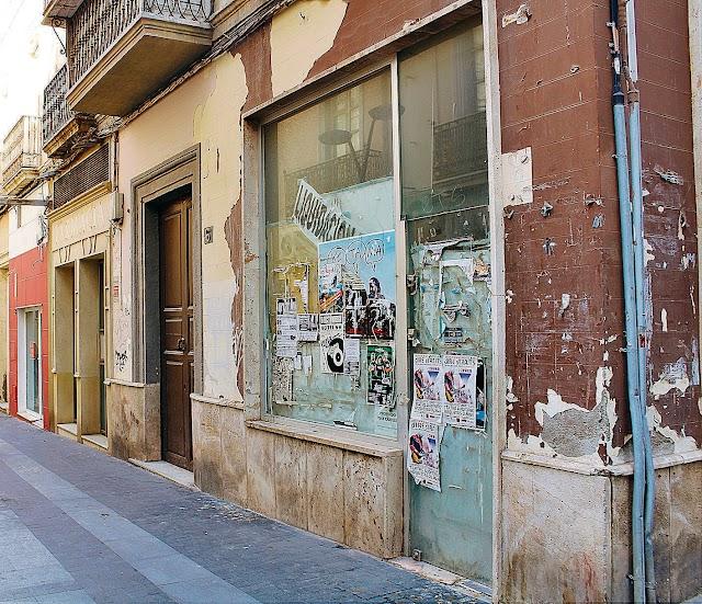 Estado actual de una de las calles del centro.