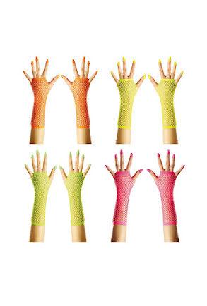 80-tal Näthandskar, 4 neonfärger