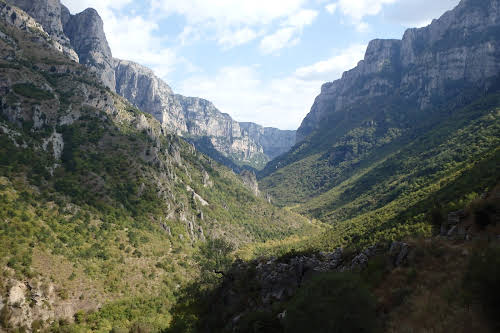Best Hikes in Europe for Long Distance Hiking Trails // Greece Vikos Gorge Photo Credit Coddiwomp