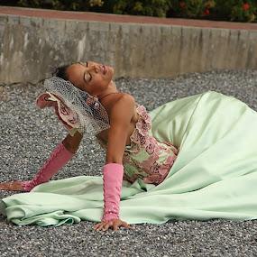 Jade by Sharmila Narwani - Wedding Bride ( sitting, couture, eyes closed, gown, bride,  )