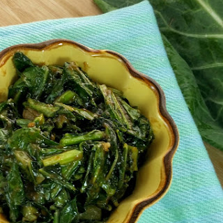 Peanut Ginger Collard Greens