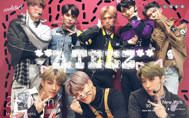 Ateez Hd Wallpapers Kpop Muisic New Tab Theme