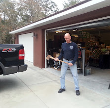 Photo: December 23, 2012 Careful with that axe! I'm defending my garage full of everything we own from the demons of the Universe, on Day Two.