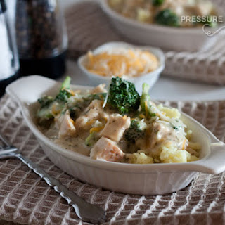 Creamy Chicken and Broccoli over Rice.