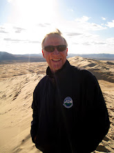 Photo: A friendly hiker we met at the top of the dunes. He had no water (a bad idea in the desert) and borrowed some or ours.