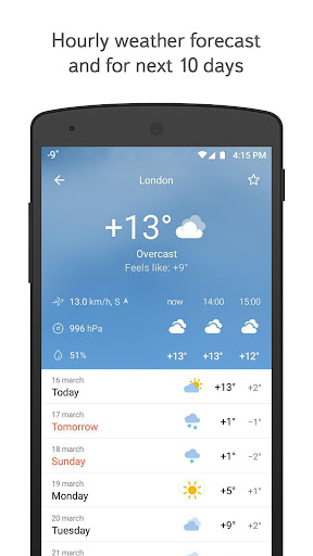 Yandex.Weather screenshot 1
