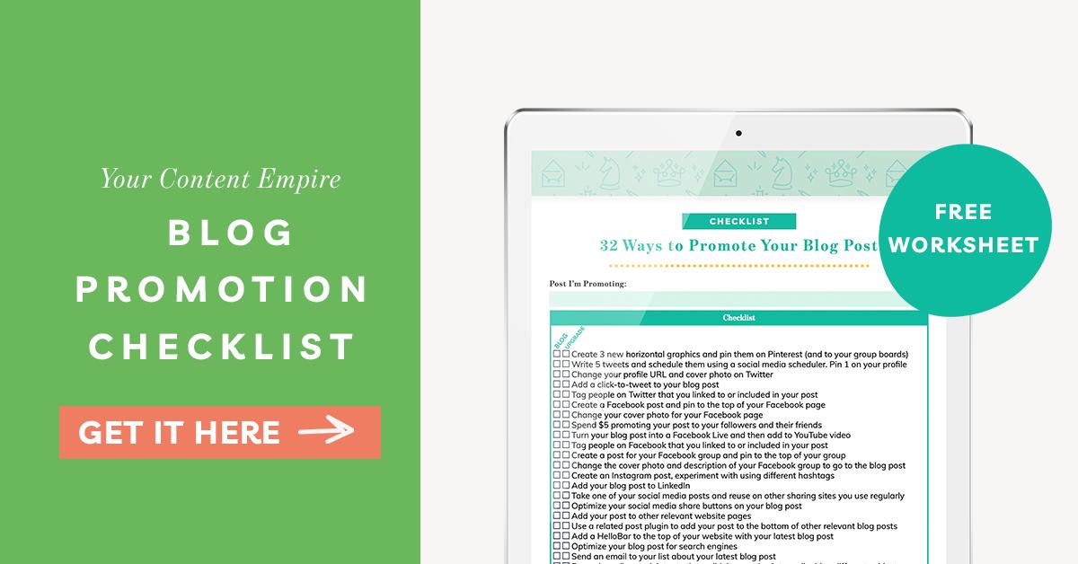 Freebie | Blog Promotion Checklist