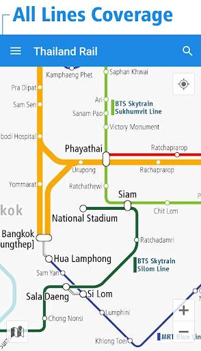 泰國鐵路線圖 - 曼谷和全泰國的地鐵 BTS 鐵路