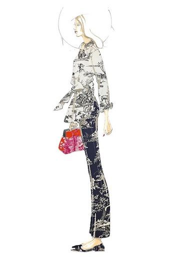 Design Sketch for Max Mara x Richard Saja Collaboration