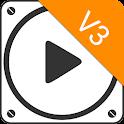 PlayerPro V3 Skin Bright White icon