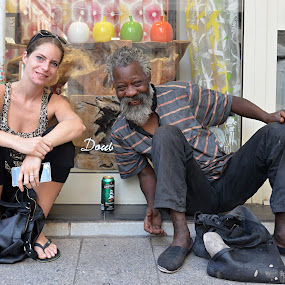 Woman is Woman. Beer is Beer. by Marcel Cintalan - People Street & Candids ( enjoyment, cannes, beer, woman, street, france, smile, man, street photography )