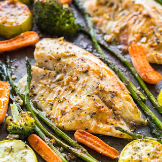 Healthy Sheet Pan Tilapia and Veggies + Meal-Prep.