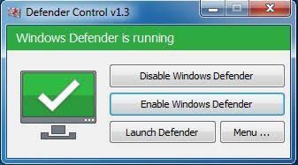 bật windows defender
