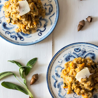 Butternut Squash Risotto with Pears and Sage #SundaySupper