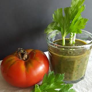 Tomato Celery Green Smoothie.