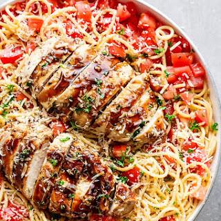 Bruschetta Chicken Pasta Salad #Recipe