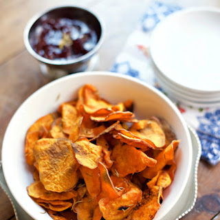 Rosemary Oven Baked Sweet Potato Chips