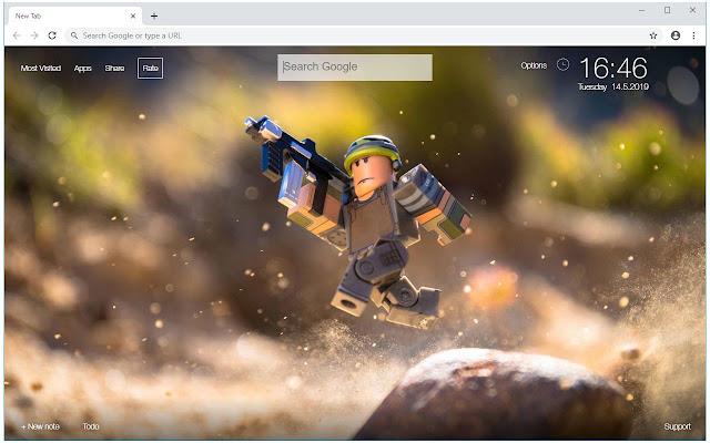 Roblox & Minecraft HD Wallpapers New Tab
