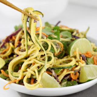 Spicy Asian Zucchini Noodles.