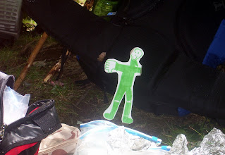 Photo: Flat Jed is a real man. He lost his arm and still has a smile on his face.
