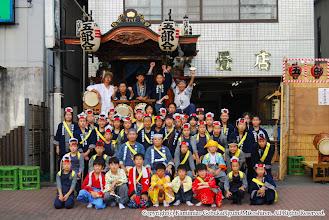 Photo: 【平成19年(2007) 宵宮】 囃子保存会 少年少女はやし連の記念撮影。