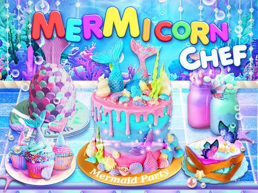 Unicorn Chef: Mermaid Cooking Games for Girls 2.1 screenshots 1