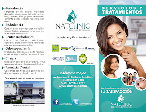 Photo: Brochure informativo de servicios de Natclinic Odontología Especializada