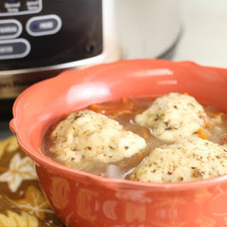 Slow Cooker Beef Dumpling Soup