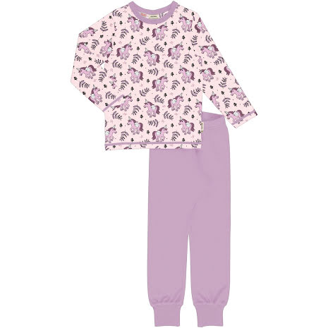 Maxomorra Pyjamas Set LS Unicorn Jungle