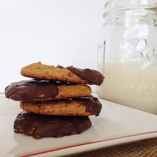 Chocolate Dipped Peanut Butter Cookies