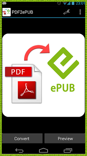 Convert PDF to ePUB