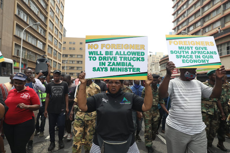 Foreign-owned stores were targeted as uMkhonto weSizwe veterans and aligned groups protested in Durban on Monday.