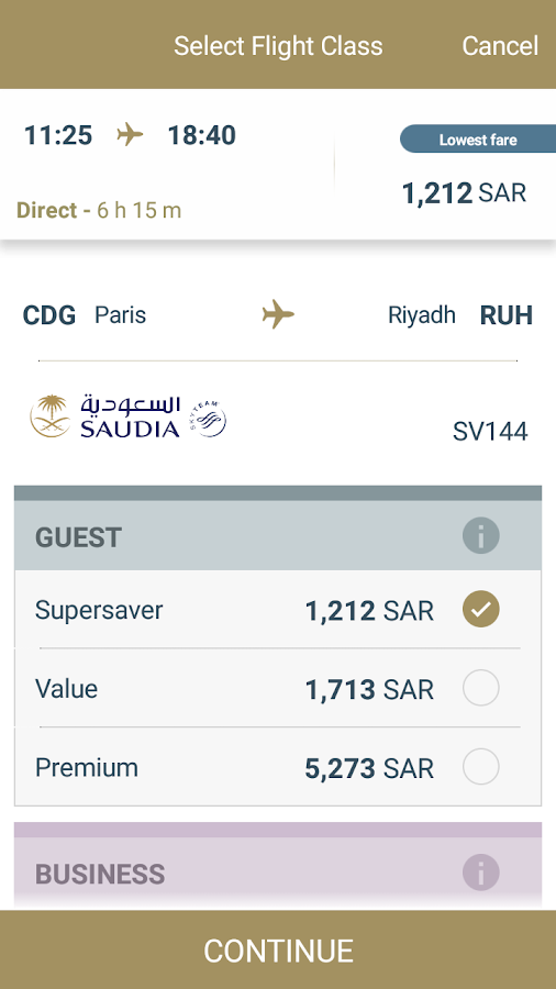 SAUDIA- screenshot