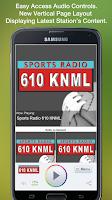 Screenshot of Sports Radio 610 KNML