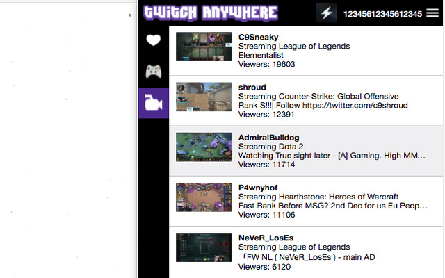 Twitch Anywhere
