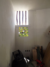 Photo: Now the warehouse is finished. We decorated with wine bottles from #Mar Y Sol Restaurant in Bucerias. Big thanks to Nancy who gave us hundreds of bottles used throughout the project. The Brazil wood seen above had been thrown out by a restaurant in Litibu.