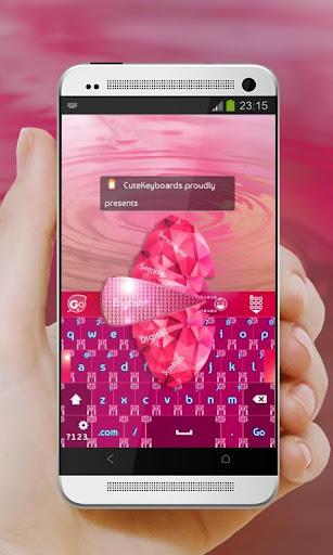 핑크 다이아몬드 GO Keyboard