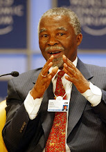 Photo: NEW YORK, 01FEB02 - Thabo Mbeki, President of South Africa, speaks during a session of the 32nd Annual Meeting of the World Economic Forum at the Waldorf-Astoria hotel in New York on February, 1, 2002. Main subject of the meeting was 'Africa's Response'.